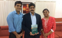 Presented copy of my book to Dr. GS Krishnan, Managing Director, Novozymes, IN