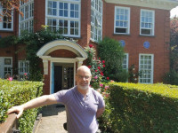 Mark Winborn at the Freud Museum - London