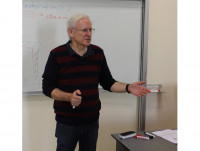 Lecturing at the Yeditepe University in the BioThermodynamics class, November, 2012