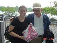 Theodore Sheskin with niece Emily at Target NYC 052612