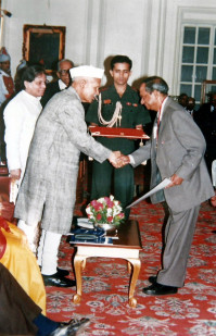 Dr B.C Roy National Award in 1994, awarded by President Of INDIA