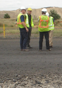 On-site assessments and evaluation of haul road trafficability
