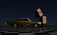 Render: car hitting blocks
