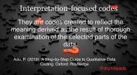 Interpretation-focused codes