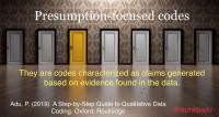 Presumption-focused codes