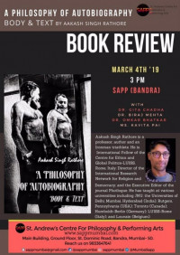 Book Discussion: A Philosophy of Autobiography: Body & Text​ - 4 Mar 2019