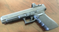 Glock 41 equipped with Trijicon RMR optic