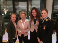 With former German Minister of Defence, Dr. Ursula von der Leyen