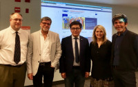 Dr Maxat Kassen visited a Fulbright Awards workshop in Columbia College Chicago