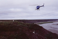Airlifting dinosaur bones in Arctic Alaska