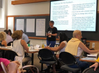 Leading a workshop on strategy