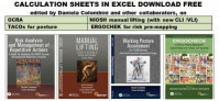 CALCULATION SHEETS IN EXCEL DOWNLOAD FREE by EPMIES