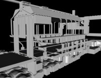 Extract from BIM Model of Palace of Westminster's historic ventilation system
