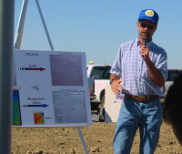 Speaking at a Precision Agriculture Field Day