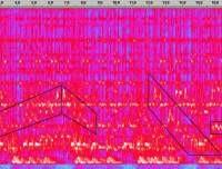 Spectrogram of Ravi Shankar's music