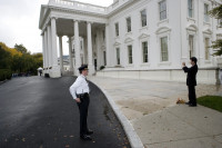 Atlas investigating a slip and fall at the Whitehouse